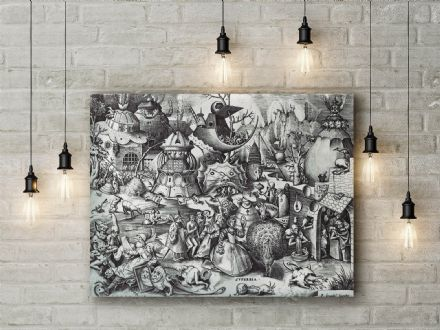 Pieter Bruegel: The Seven Deadly Sins - Pride. Fine Art Canvas.